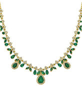 Effy 14K Yellow Gold Emerald and 1.34TCW Diamond Necklace
