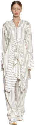 J.W.Anderson Striped Cotton Poplin Shirt