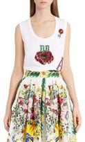 Dolce & Gabbana Women's Embellished Cotton Tank