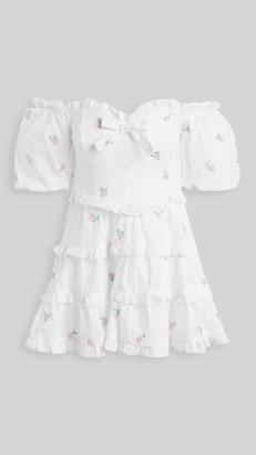 For Love & Lemons Rainey Off Shoulder Mini Dress