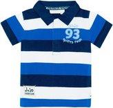 Jo-Jo JoJo Maman Bebe Rugby Shirt (Baby) - Cobalt navy stripe-18-24 Months
