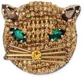 Gucci Feline brooch with crystals