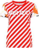 Kenzo Paprika stripe logo T-shirt