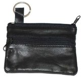 Marshal Womens Leather Change Purse w/ Key Ring