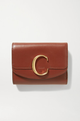 Chloé C Leather Wallet - Brown