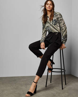 Ted Baker AISIMA Wrap front belted trousers