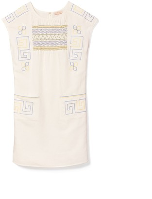 Tory Burch Smocked Mini Dress