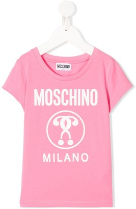 MOSCHINO BAMBINO logo-print short sleeved T-shirt