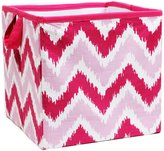 Bacati MixNMatch Zigzag Storage Box, Pink, Small by