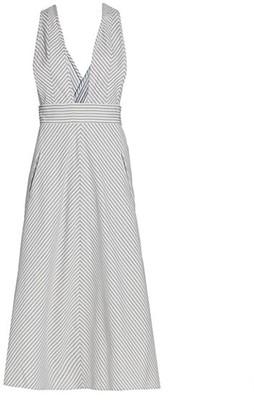 ANNA MASON Striped Pinafore Dress