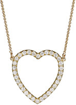 Jennifer Meyer Women's White Diamond Open Heart Necklace