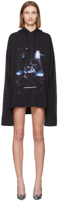 Vetements Black STAR WARS Edition Dark Side T-Shirt Hoodie