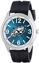 Game Time Men's NFL-VAR-PHI Varsity Analog Display Japanese Quartz Black Watch
