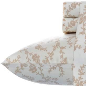 Laura Ashley Victoria Flannel Sheet Set - Beige