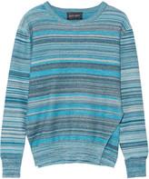 Baja East Mélange striped cotton sweater