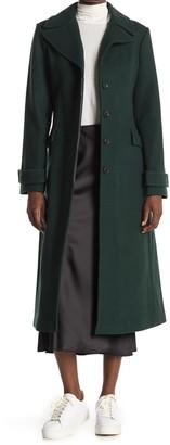 Kate Spade Twill Wool Blend Belted Coat
