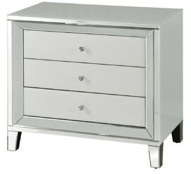 House of Hampton Monteiro Beveled 3 Drawer Accent Chest