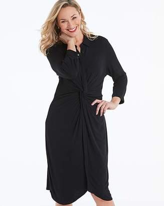 Jd Williams Black Twist Front Jersey Shirt Dress