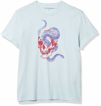 John Varvatos Men's Short Sleeve Crew TEE-Snake Skull