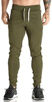 Ouber Azyuan Men's Fitted Shorts Bodybuilding Workout Gym Running Jogger Pants (US S=Tag L)