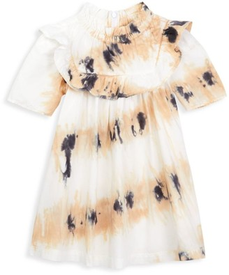 Sea Little Girl's & Girl's Tamara Tie Dye Ruffle Tunic