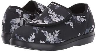 Propet Cush 'N Foot (Black Floral) Women's Shoes