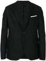 Neil Barrett fitted two button blazer