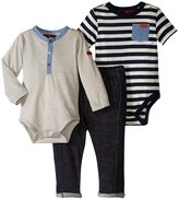 7 For All Mankind Cuffed Jogger Set (Baby) - Dress Blues - 0/3 Months