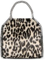 Stella McCartney leopard falabella alter fur mini tote