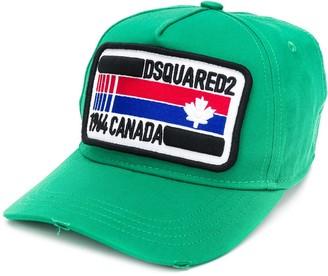 DSQUARED2 distressed logo patch cap