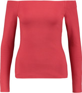 L'Agence Cynthia off-the-shoulder ponte top