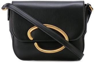 Oscar de la Renta logo plaque shoulder bag