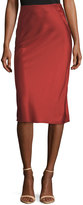 Alexander Wang Heavy Draped Satin Pencil Midi Skirt