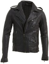 Infinity Slim Fit Men's Retro Real Leather Brando Croc Motorcycle Biker Jacket M