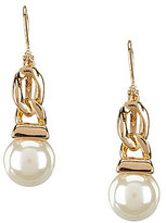 Anne Klein Blanc Pearl Drop Earrings