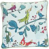 Osborne & Little - Cockatoos Zagazoo Cushion - 45x45cm - Blue