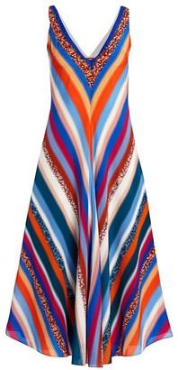 Altuzarra Cardenas Striped Silk Midi Dress