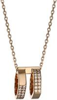 Repossi Antifer 18K Rose Gold & Diamond Two-Row Pendant Necklace