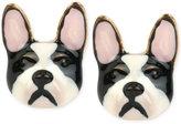 Betsey Johnson Gold-Tone Bulldog Earrings