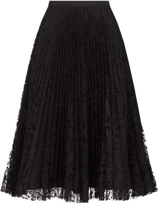 Andrew Gn Pleated Lace Midi Skirt