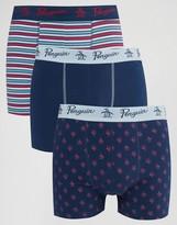 Original Penguin 3 Pack Boxer Shorts