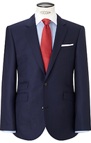John Lewis Hopsack Super 100s Wool Tailored Suit Jacket, Royal