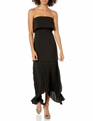 C/Meo Women's Take Seriously Strapless Popover Pleated Midi Dress