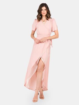 Standards & Practices Robin Short Sleeve V-Neck Maxi Dress