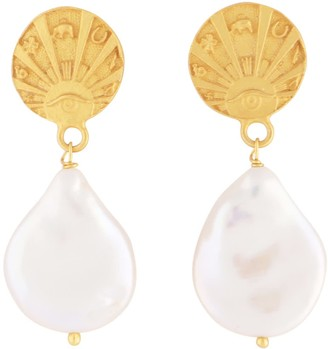 Carousel Jewels Good Luck Coin & Delicate Mother Of Pearl Drops