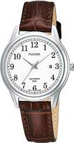 Pulsar Uhren Women's Quartz Watch Klassik PH7187X1 with Leather Strap