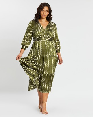 Atmos & Here Josie Polka Midi Dress
