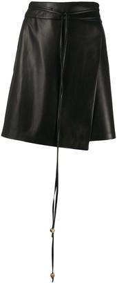 Nanushka Faux Leather Wrap Skirt