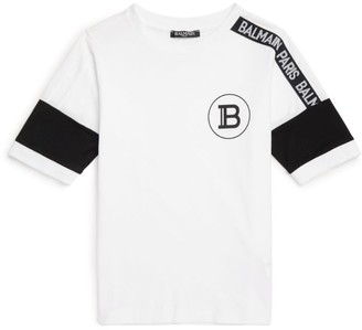 Balmain Kids Tape Short-Sleeved Top
