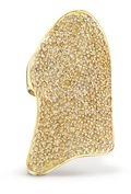 Lynn Ban 'Pavé Armor' diamond 14k yellow gold ring